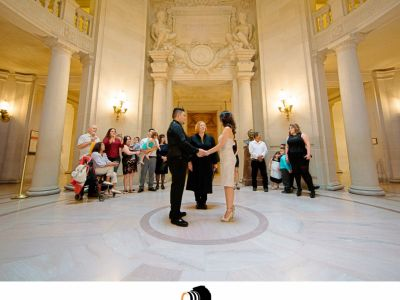 Mario & Cristina - SF city hall & Palace of Fine Art