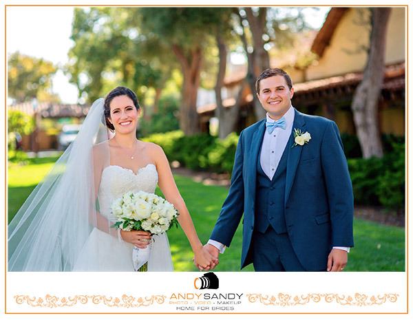 Jenna & Joe's Catholic church wedding at Mission Santa Clara de Asís, Santa Clara University
