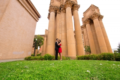 S F city hall & Palace of fine art - Pooja and AJ