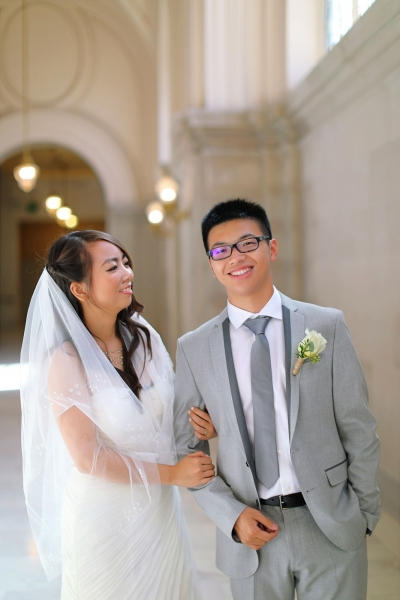 Will & Deasy eloping at San Francisco city hall