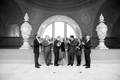 Rachel & Michael elopement at San Francisco city hall