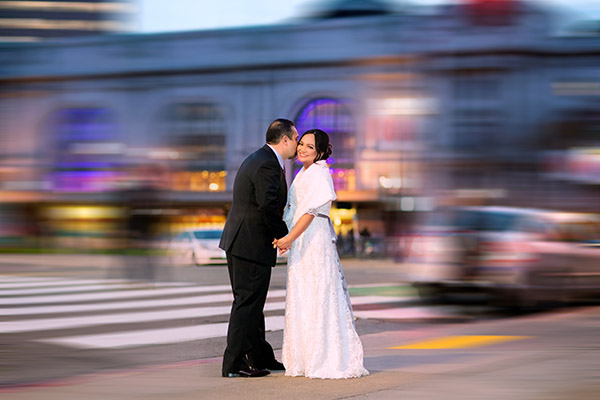 Diana & Richard's wedding photography at San Francisco city hall