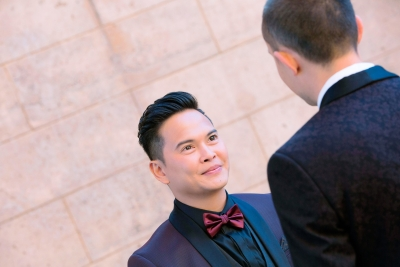 C & A intimate wedding at Palace of Fine art San Francisco