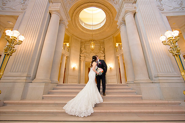 San Francisco city hall wedding photographer Andy