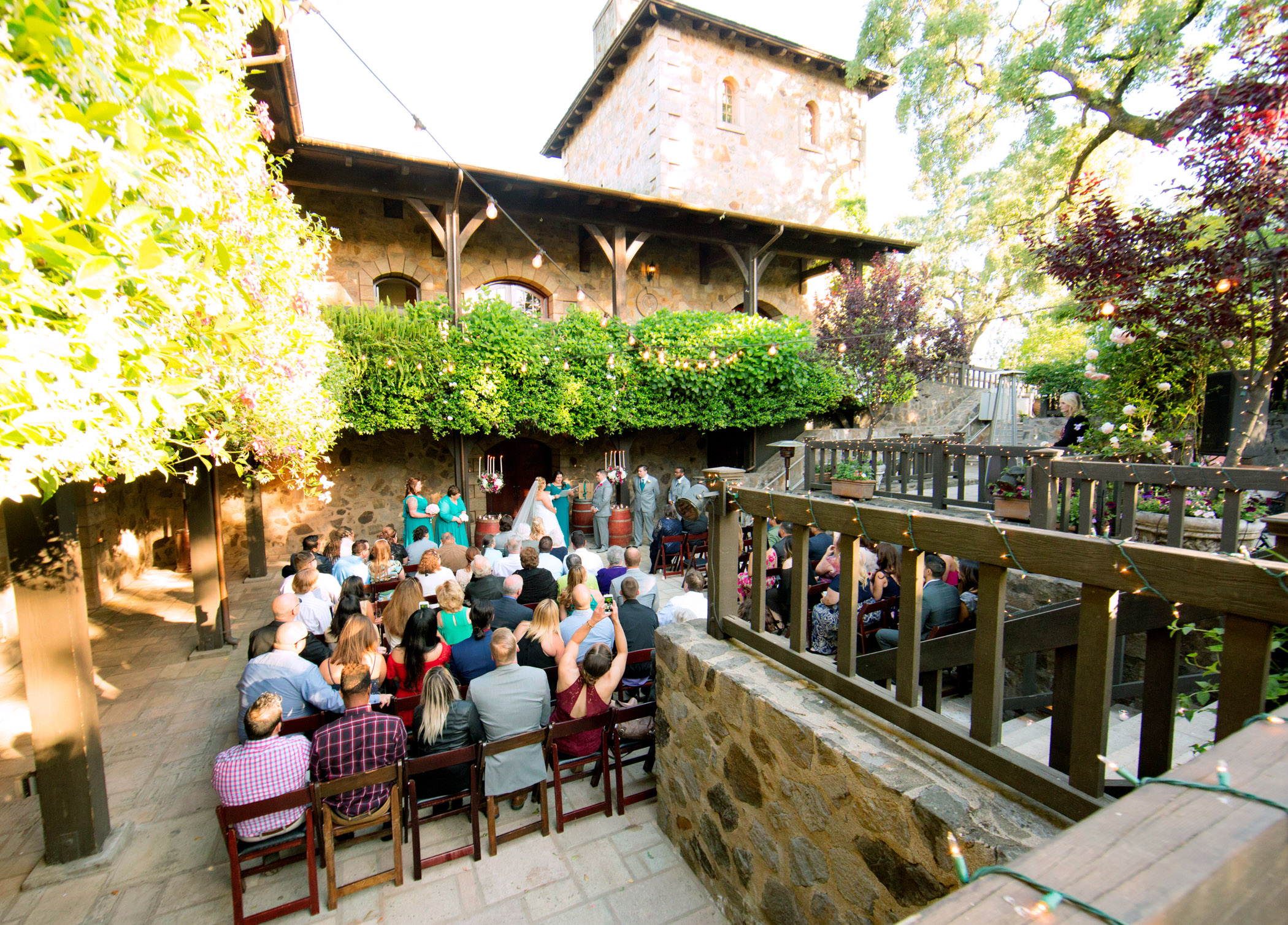 V Sattui winery Napa wedding ceremony & Reception