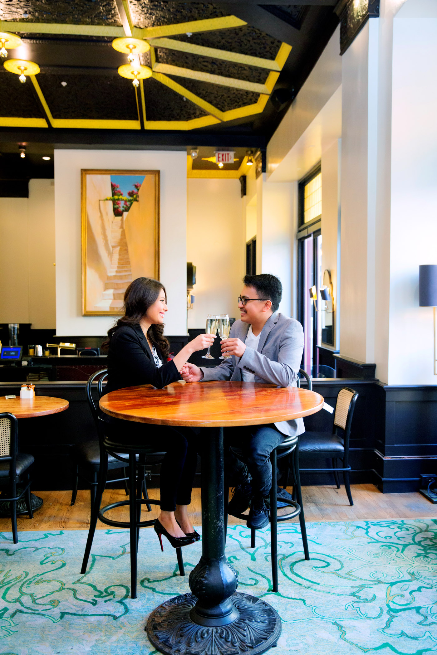Lifestyle portrait at Sir Drake Francisco San Francisco