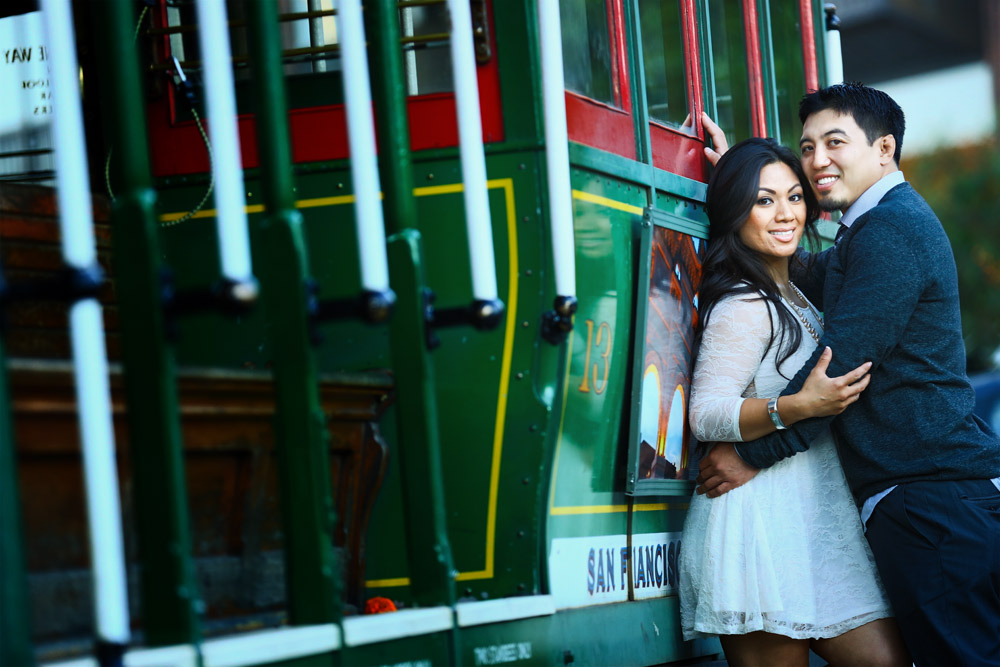 Muni cable Car in San Francisco - Fisherman Wharf – great place for Pre wedding photography
