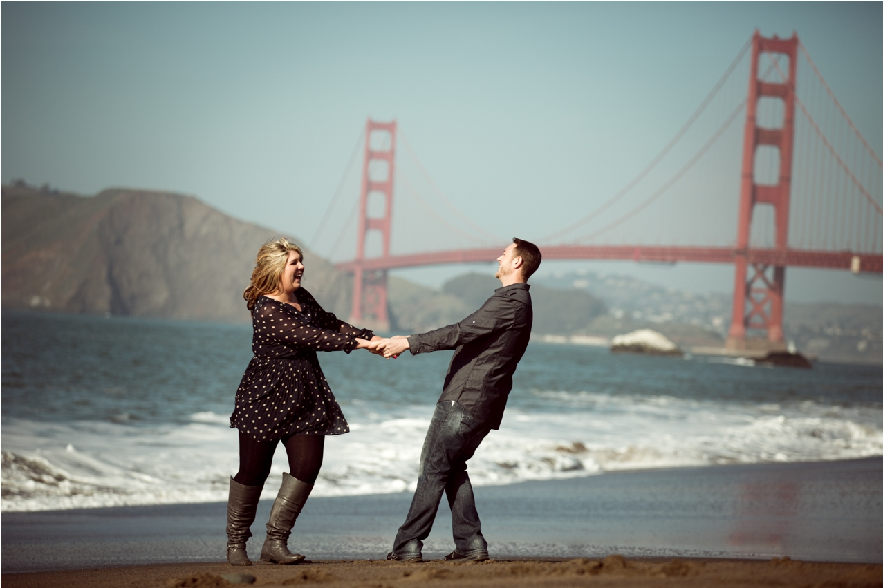 San Francisco Wedding Pographer   Another Beach Location For Engagement Photography Baker Beach San
