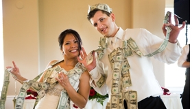 Filipino Wedding , Money dance, dollars dance, dollar dance - Photograph by Monterey Wedding Photographer Andy Sandy
