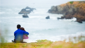 Enlopement photography at Sonoma Coast State Beach photograph by San Francisco Photographers Andy Sandy