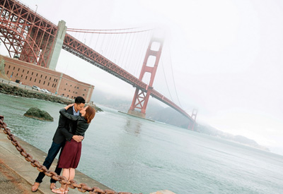 Couple Portrait Engagement Photography at Fort Point San Francisco