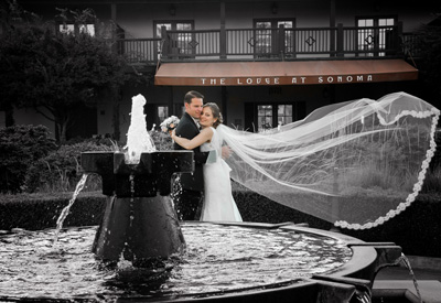 The Lodge of Sonoma Renaissance Resort and Spa Wedding photography