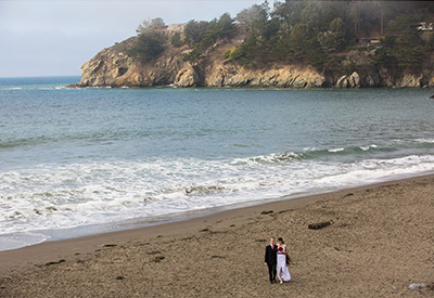 Beach wedding in San Francisco Muir Beach Sausalito CA