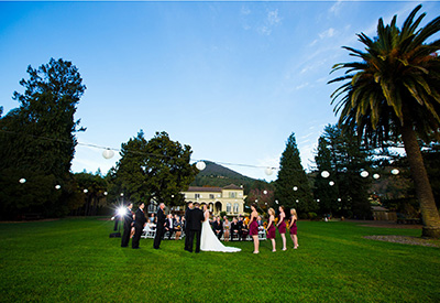 Chauteau St Jean Winery Kenwood in Sonoma County wedding photography