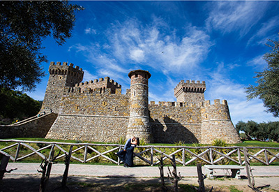 Engagement Photography at Castello di Amorosa Winery Calistoga CA