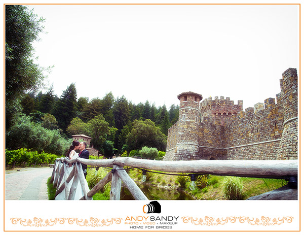 Lisa & Samson Engagement photography at Castle Di Amorosa in Calistoga