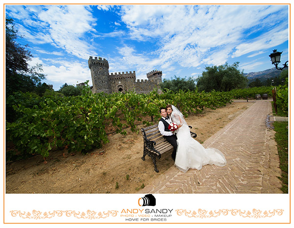 Pre wedding photography at Castello Di Amorosa & San Francisco City Hall & Baker beach