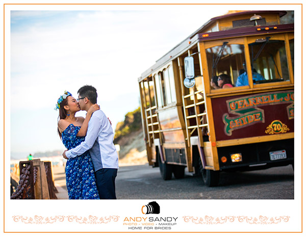 Marco & Carrie Engagement photography in Napa Valley & Baker Beach San Francisco