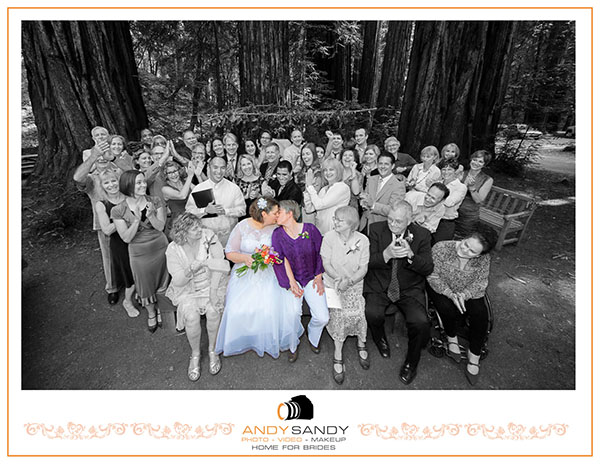 Kim & Emilie's wedding photography at Armstrong Woods State Reserve Guerneville